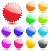Multicolored glossy web elements. Perfect for adding text, icons — Stock Vector
