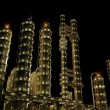 The  plant at night. - Stock Photo