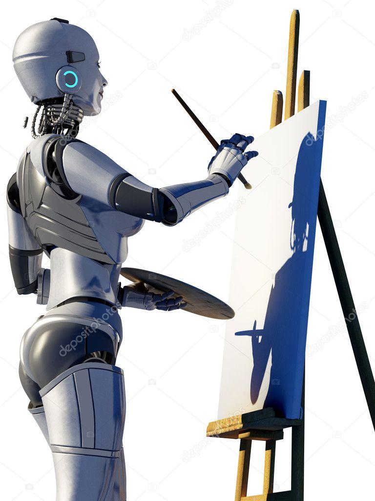Робот художник