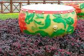 Drum in garden — Stock Photo