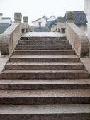 Chinese old stone bridge in Wuzhen town — Stock Photo