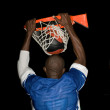 Stock Photo: Dunk at basket ball sport
