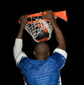 Dunk at basket ball sport — Stock Photo