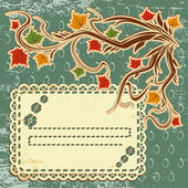 Vector autumn leaves background — Stock Vector