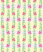 Floral vector seamless straight pattern with flowers. — Stock Vector