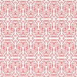 Stock Vector: Lace pink seamless pattern