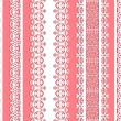 Royalty-Free Stock Vector Image: Cute straight seamless lace set