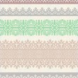 Set of vector vintage borders. — Stock Vector