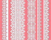 Cute straight seamless lace vector set — Stock Vector