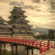Matsumoto Castle in Matsumoto, Japan - Stock Photo