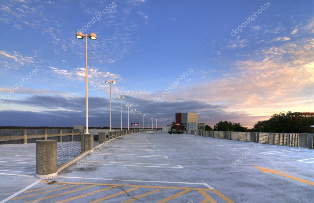 Top of a parking deck  Stock Photo #6862034