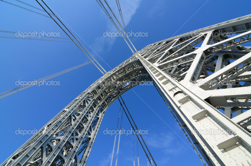 The George Washington Bridge Arch in New York City. — Stock Photo #6862036