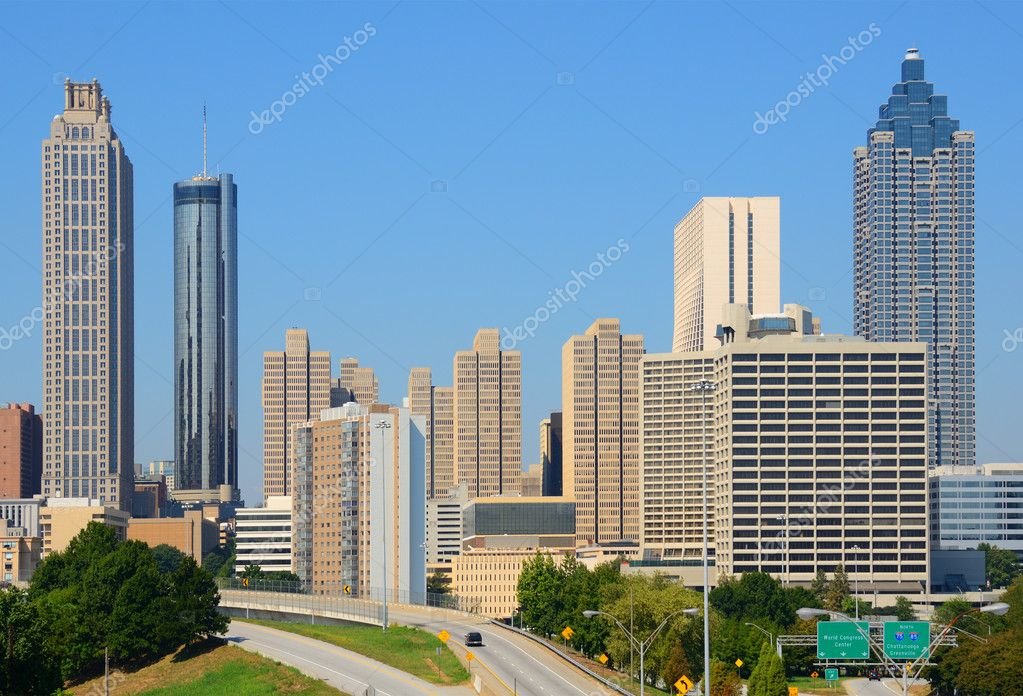 View of skyscrapers in downtown Atlanta, Georgia, USA. — Stock Photo #6862319