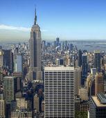 вид с воздуха на манхэттен — Стоковое фото