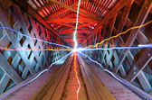 Light Beams in a Tunnel — Stock Photo