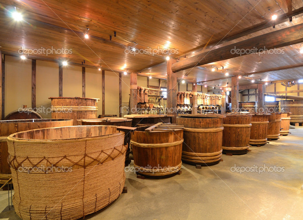 Interior of a sake brewery — Stock Photo #7532445