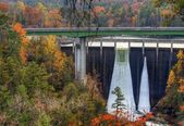 Tallulah Gorge Dam — Stock Photo