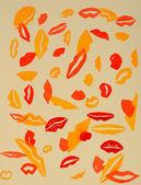 Lips illustration — Stock Photo