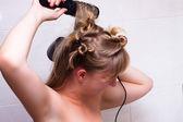 Woman hair care — Stock Photo