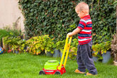 Little boy gardening — Stock Photo