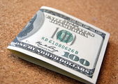 One hundred dollar bill — Stock Photo