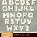Vector detailed alphabet — Stock Vector