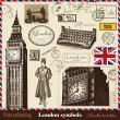Symbols of London — Stok Vektör #7525300