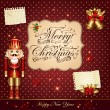 Christmas vector illustration with Nutcracker — Imagens vectoriais em stock