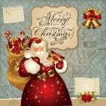 illustrazione di Natale con Babbo Natale — Vettoriale Stock