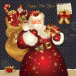 Christmas illustration with Santa Claus — 图库矢量图片 #7525341