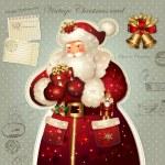 サンタ クロースとクリスマス イラスト — ストックベクタ