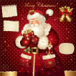 Royalty-Free Stock Imagem Vetorial: Christmas illustration with Santa Claus