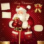 jul illustration med jultomten — Stockvektor