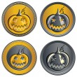 Stock Vector: Vector set of coins on Halloween