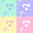 ストックベクタ: Vector seamless pattern of love