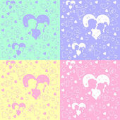Vector seamless pattern of love — Vettoriale Stock
