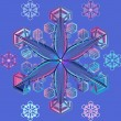 Vector blue transparent snowflake — Stock Vector #7009388