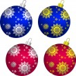Vector set of Christmas balls — Stock Vector #7042025