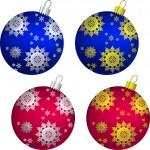 Vector set of Christmas balls — Stock Vector #7042025