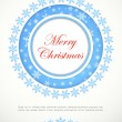 Greeting Christmas card — Stock Vector