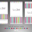 Royalty-Free Stock Vectorielle: Set of cards.