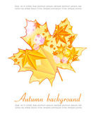Nice autumn background with glowing lights — Stock Vector