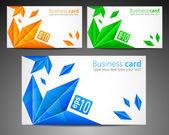Set of Modern Business Card — Stock Vector