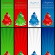 Colorful set of christmas web banners — Stock Vector