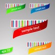 Set of color labels with bar-code. — Stock Vector