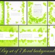 Big set of floral spring backgrounds — Stock Vector