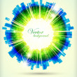 Abstract background with glowing lights — Stock Vector #7108701