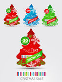 Set of icons for new-year sale. — Stock Vector