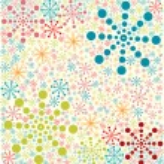Retro seamless winter pattern, vector illustration — Stock Vector