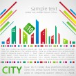 Abstract background. City theme. — Stock Vector